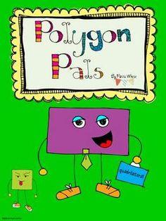 Polygon Pals TpT unit with super cute shape clip art
