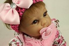 awesome Baby Doll Reborn Girl Infant Brown Hair Vinyl Soft Realistic Gift Beautiful Pink - For Sale Check more at http://shipperscentral.com/wp/product/baby-doll-reborn-girl-infant-brown-hair-vinyl-soft-realistic-gift-beautiful-pink-for-sale/