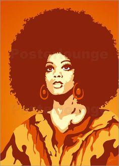 70s Orange Soul Mama Poster von JASMIN!