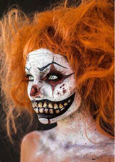Resultado de imagen de realistic art makeup scary