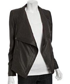 Tahari single snap leather jacket. Yep, it's like butter, baby.