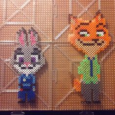 Judy and Nick - Zootopia perler beads by legendaryr12