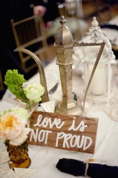 on each table a different part of the verse Amy Martin everything you post makes me want to have it at my wedding haha this is such a cute idea!!