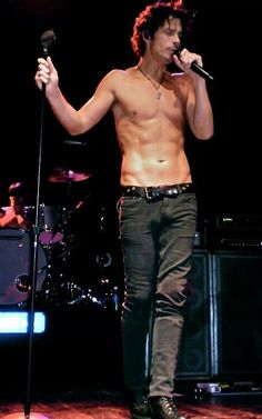 Chris Cornell (lead singer of the band) audioslave-soundgarden. Description from pinterest.com. I searched for this on bing.com/images