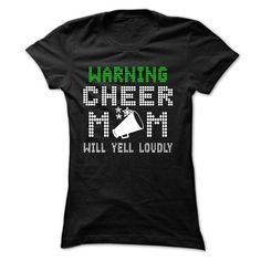 WARNING CHEER MOM WILL YELL LOUDLY T-Shirts, Hoodies (21.99$ ==►► Shopping Here!)