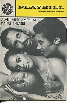 Judith Jamison Lynn Seymour Sylvia Waters The Alvin Ailey Dance 1971 Playbill