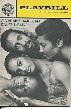 Judith Jamison Lynn Seymour Sylvia Waters The Alvin Ailey Dance 1971 Playbill
