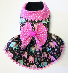 Cute Elephant Harness Dress for Small Dog by JinsK9Kreations