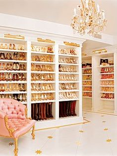 would probably have a shoe fetish too if i had all these shelves