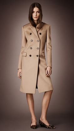 Burberry Bonded Cashmere Chestfield Coat - nobody does a trench like Burberry!