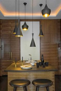 pendant lighting   kitchen   paris france   interior architecture &…