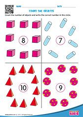 Math Counting Objects worksheets pre-k Shape Worksheets For Preschool, Number Worksheets Kindergarten, Kids Learning Activities, Preschool Activities, Learning Time, Learning Centers, Printable Worksheets, Rules For Kids, Math For Kids