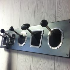 Decorating idea for car lovers - stick shift cost rack. i wonder if i can make this..hmmm, to get crafty i shall.
