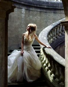 princesses walk down stairs waiting but nothing comes