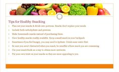 We served healthy desserts in the dining hall and offered these tips for healthy snacking!