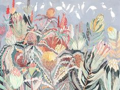 Protea and Herons MICHELLE MORIN