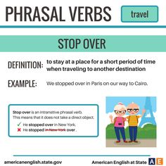 Phrasal Verbs: Travel - Stop Over