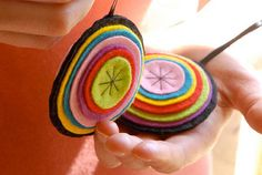Layer Play ornament from Fa La La La felt (free pattern on Stumbles & Stitches)