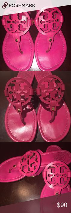 Tory Burch sandals Magenta / Pink classic Tory. Size 9. Great condition. Worn only a handful of times. Still tons of life left. Tory Burch Shoes Sandals