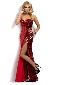 Buy 2014 Hot Red Sequin Shimmer Sweetheart Column Slit Prom Dress New Style latest design at online stores, high quality of cheap wedding dresses, fashion special occasion dresses and more, free shipping worldwide.