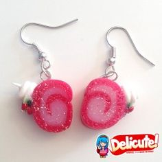 Delicious slices of strawberry and cream roll, entirely handmade.  Find it on www.Delicute.com