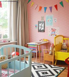 New unisex kids room paint rugs ideas Unisex Kids Room, Kids Room Paint, Little Girl Rooms, Kid Spaces, Kids Bedroom, Bedroom Ideas, Bedroom Designs, Nursery Room, Girl Nursery