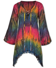 "Brite Tie-Dye Kurta ---- soul-flower..... There's just something about this shirt, ""Love IT""!!"