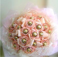 3 Dozen Rocher In Pink-Chocolate Bouquet 8