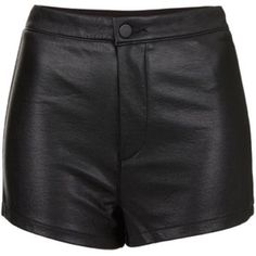 Black faux leather high wasted shorts Brand new without tags H&M Shorts