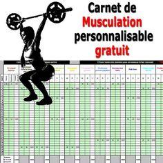Carnet de musculation Excel téléchargeable gratuitement sur Entrainement-sportif.fr http://entrainement-sportif.fr/carnet-musculation.htm