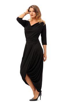 Rochie rasucita R025 negru Wrap Dress, Free, Dresses, Fashion, Gowns, Moda, La Mode, Wrap Dresses, Dress