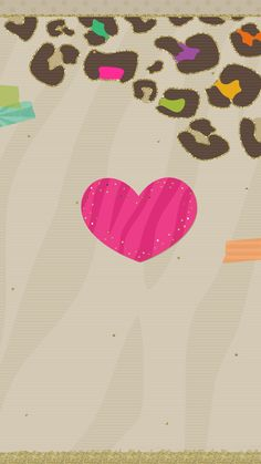 Love Wallpaper Backgrounds, Heart Wallpaper, Kawaii Wallpaper, Cute Wallpapers, Iphone Wallpapers, Leopard Print Wallpaper, Happy Valentines Day, Cow, Girly