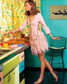 Karlie Kloss in Chanel, ballet pink