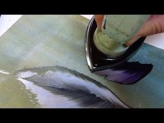 Encaustic Blättertechnik - YouTube  In German, but VERY easy to follow along and VERY intersting