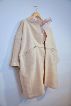 Amy Revier | Tuttle Coat, organic cotton and paper linen,currently inDover Street Market, London for SS13 (each piece is handwoven + one of a kind garment)