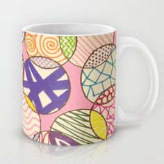 Zentangle Circles Mug by Rachel Butler - $15.00