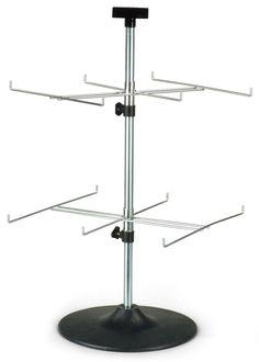 Countertop Spinner Rack For Blister Packs 2 Rotating Tiers 12