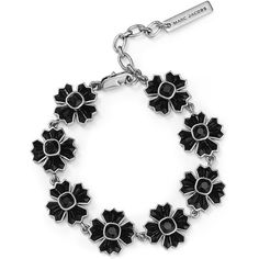 Marc Jacobs Jet Night Cross Chain Bracelet ($160) ❤ liked on Polyvore featuring jewelry, bracelets, crucifix jewelry, cross jewelry, cross bangle, chains jewelry and gothic cross jewelry