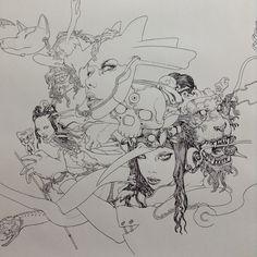 at JANM / LA  Little Tokyo  Drawing drawing