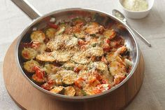 Enjoy this zucchini recipe that includes other skillet-cooked and crisp-tender vegetables topped with tasty mozzarella and Parmesan. So easy—and so good.