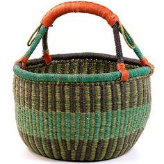 "Fair trade baskets made in Ghana (I think) Market Basket 14.5"""