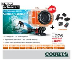 'A few #summer moments #captured'' l Rollei cam available in our showrooms  Available with : #Accessories ◘Rollei Action-cam 5S WiFi  ◘Removable WiFi Transmitter DW-10 ◘Removable Display ◘Underwater Protective Case with 2 exchangeable Rear Panels (1x for diving,1x splash protection for better sound)  ◘Wireless Remote Control (up to 10 m Range)  ◘Rechargeable Lithium-Ion Battery ◘Standard Mount ◘1 Flat Adhesive Pad ◘1 Curved Adhesive Pad ◘USB Cable ◘CD and Manual