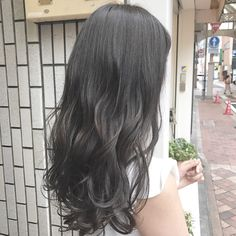 Hair Color For Black Hair, Love Hair, Gorgeous Hair, Permed Hairstyles, Pretty Hairstyles, Straight Hairstyles, Brown Hair Tones, Korean Hair Color, Grey Ombre Hair