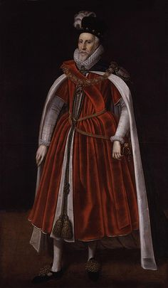 Charles Howard, first Earl of Nottingham, cousin of Queen Elizabeth I, by an unknown artist, 1602
