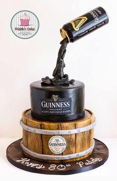 Friddle's cakes Gravity defying Guinness birthday cake.