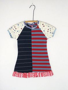 Girls Size 4 OOAK Ecofriendly Upcycled T Shirt by TwoSweetMamas, $33.00