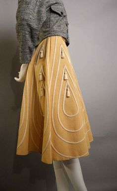 vintage mustard---check out the tassles
