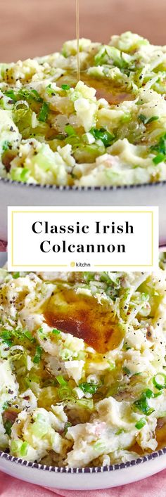 How To Make Colcannon (Irish Mashed Potatoes and Cabbage). Looking for recipes and ideas for st pattys or saint paddys day? This is a classic comfort food recipe to serve alongside corned beef! We love easy vegetarian side dishes like this . Cooked Cabbage, Corn Beef And Cabbage, Cabbage Recipes, Irish Cabbage Recipe, Cabbage Vegetable, Potato Recipes, Corned Beef Recipes, Vegetarian Side Dishes, Healthy Recipes