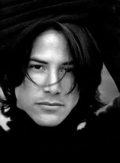 ♂ Black and white photography man portrait Keanu Reeves
