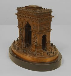French Victorian architectural element archway bronze